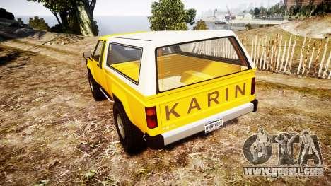 Karin Rebel 4x4 v2.0 retexture for GTA 4 back left view