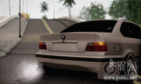 BMW M3 E36 Bosnia Stance for GTA San Andreas back left view