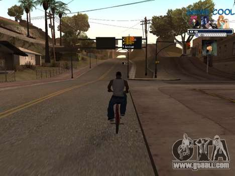 Anime C-HUD for GTA San Andreas third screenshot