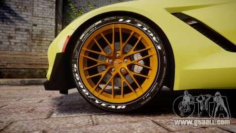 Chevrolet Corvette Z06 2015 TireGY for GTA 4 back view