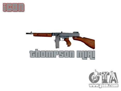 Submachine gun Thompson M1A1 drum icon3 for GTA 4 third screenshot