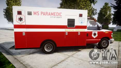 Brute V-240 Ambulance [ELS] for GTA 4 left view