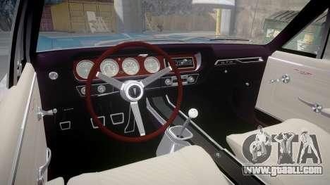 Pontiac GTO 1965 Flames for GTA 4 back view