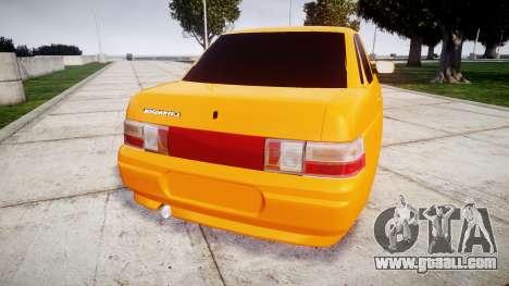ВАЗ-2110 Bogdan rims1 for GTA 4 back left view