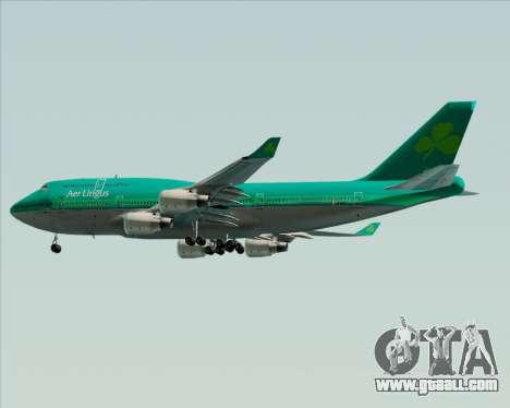 Boeing 747-400 Aer Lingus for GTA San Andreas inner view