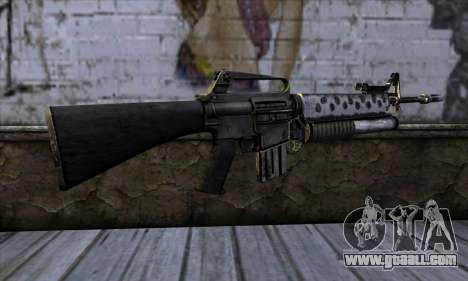M4 from Call of Duty: Black Ops v2 for GTA San Andreas second screenshot