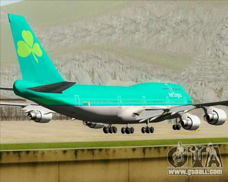 Boeing 747-400 Aer Lingus for GTA San Andreas side view