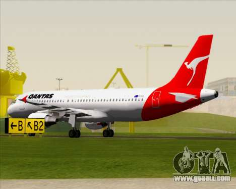 Airbus A320-200 Qantas for GTA San Andreas upper view