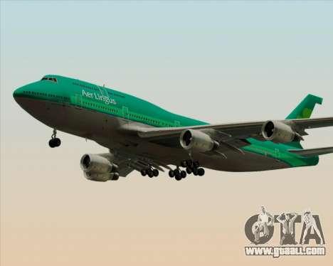 Boeing 747-400 Aer Lingus for GTA San Andreas wheels