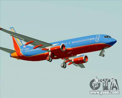 Boeing 737-800 Southwest Airlines for GTA San Andreas upper view