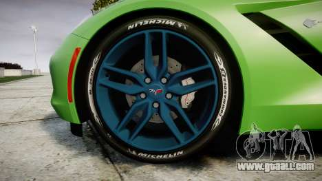 Chevrolet Corvette C7 Stingray 2014 v2.0 TireMi1 for GTA 4 back view