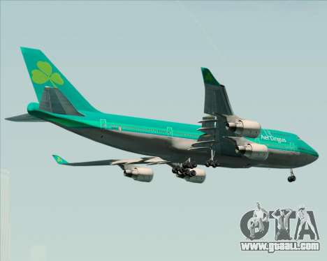Boeing 747-400 Aer Lingus for GTA San Andreas right view