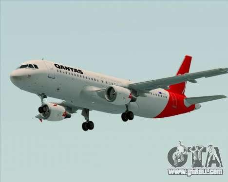 Airbus A320-200 Qantas for GTA San Andreas bottom view