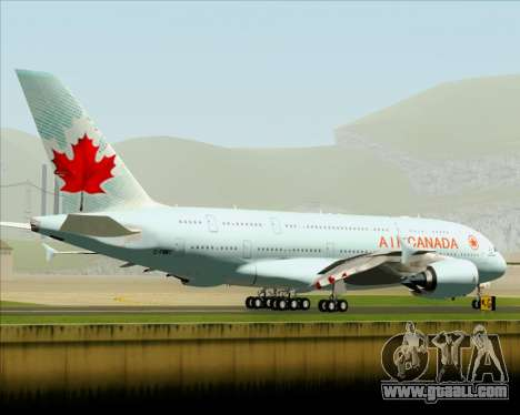 Airbus A380-800 Air Canada for GTA San Andreas back view