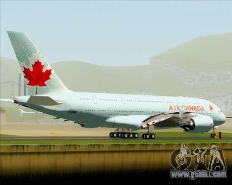 Airbus A380-800 Air Canada for GTA San Andreas back view