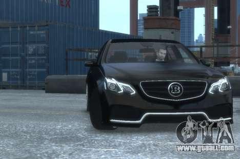 Mercedes-Benz E63 BRABUS 850 for GTA 4 inner view