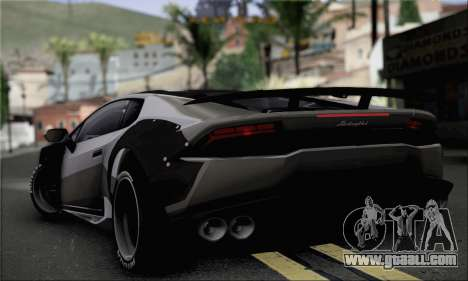 Lamborghini Huracan for GTA San Andreas left view
