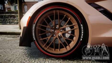Chevrolet Corvette Z06 2015 TireBr2 for GTA 4 back view
