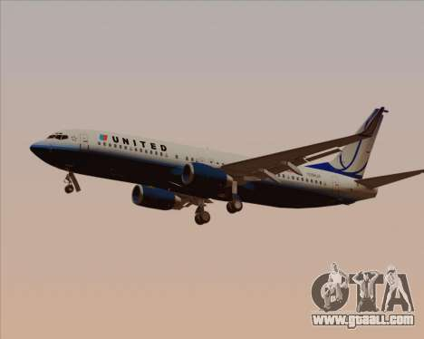 Boeing 737-800 United Airlines for GTA San Andreas interior