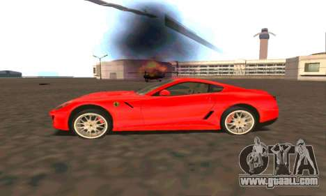 Ferrari 599 Beta v1.1 for GTA San Andreas left view
