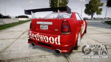 Albany Presidente Racer [retexture] Redwood for GTA 4 back left view