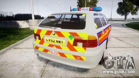 BMW 525i E39 Touring Police [ELS] JSARVV for GTA 4 back left view