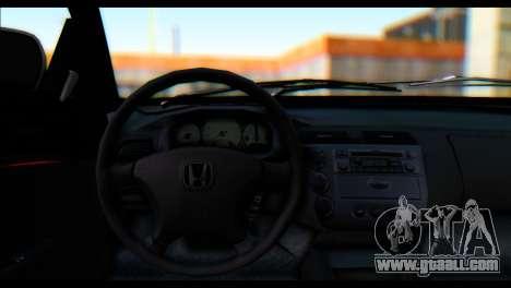 Honda Civic VteC for GTA San Andreas back left view