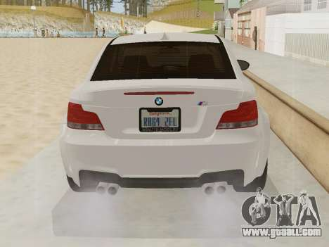 BMW 1M 2011 for GTA San Andreas side view