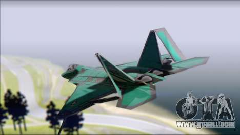 F-22A Raptor Unpainted Factory Texture for GTA San Andreas left view