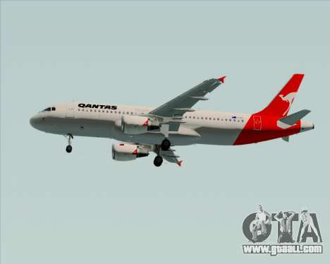 Airbus A320-200 Qantas for GTA San Andreas side view