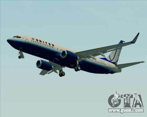Boeing 737-800 United Airlines for GTA San Andreas left view