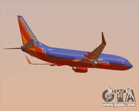 Boeing 737-800 Southwest Airlines for GTA San Andreas right view