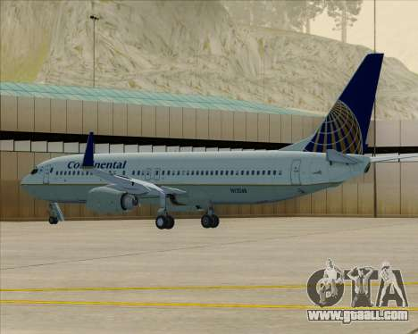 Boeing 737-800 Continental Airlines for GTA San Andreas bottom view