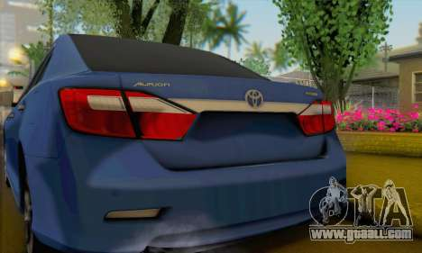 Toyota Aurion for GTA San Andreas back left view