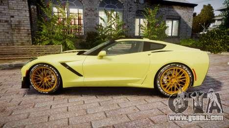 Chevrolet Corvette Z06 2015 TireGY for GTA 4 left view