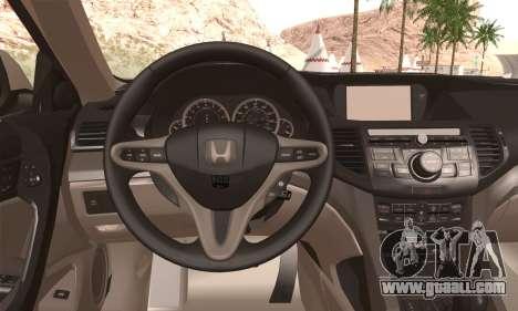 Honda Accord for GTA San Andreas back left view