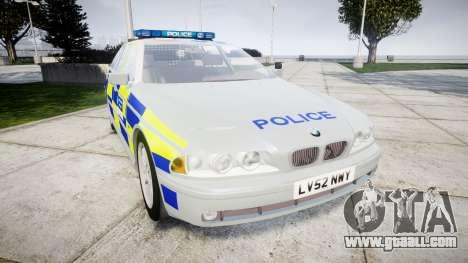 BMW 525i E39 Touring Police [ELS] BTV for GTA 4