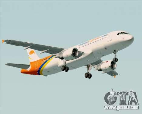 Airbus A320-200 Airphil Express for GTA San Andreas wheels