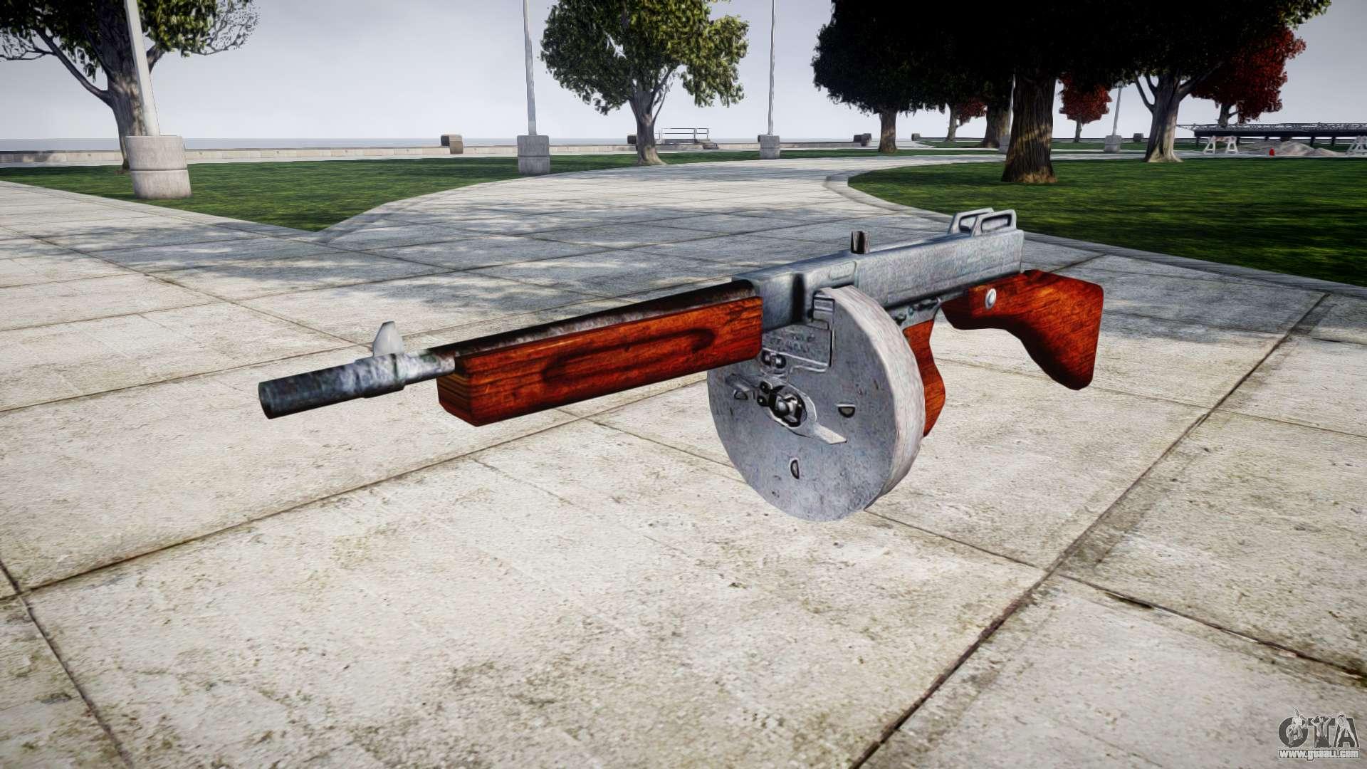 Submachine gun Thompson M1A1 drum icon2 for GTA 4