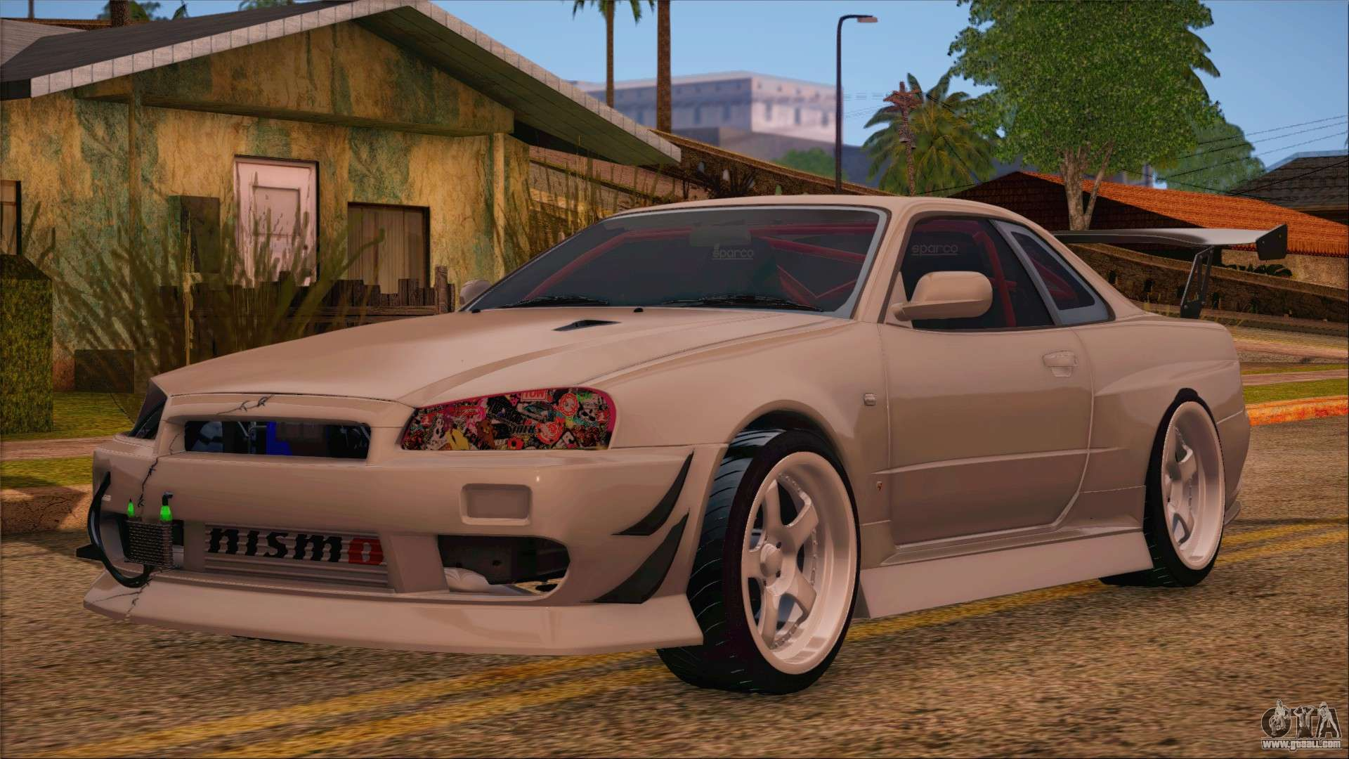 nissan skyline r34 gtr v spec 2 for gta san andreas. Black Bedroom Furniture Sets. Home Design Ideas