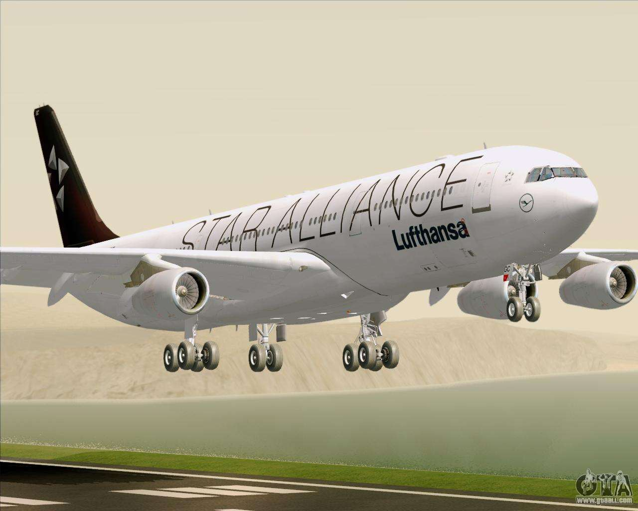 airbus a340 300 lufthansa star alliance livery for gta san andreas. Black Bedroom Furniture Sets. Home Design Ideas