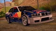 BMW E36 Coupe Bridgestone Red Bull for GTA San Andreas