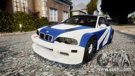BMW M3 E46 GTR Most Wanted plate NFS for GTA 4