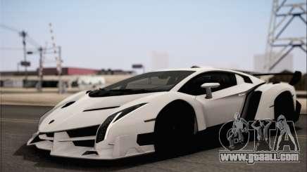 Lamborghini Veneno LP750-4 White Black 2014 HQLM for GTA San Andreas