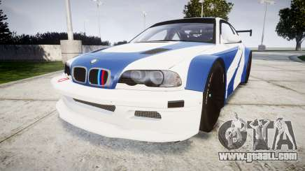 BMW M3 E46 GTR Most Wanted plate Liberty City for GTA 4