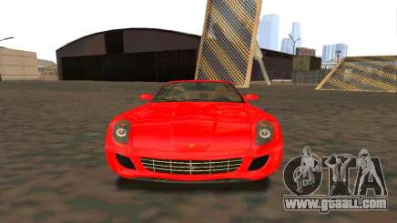 Ferrari 599 Beta v1.1 for GTA San Andreas