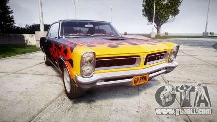 Pontiac GTO 1965 Flames for GTA 4