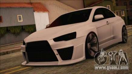Mitsubishi Lancer Evolution X HD SHDru tuning v1 for GTA San Andreas