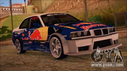 BMW E36 Coupe Bridgestone Red Bull for GTA San Andreas