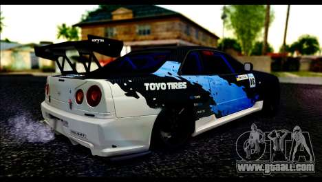 Nissan Skyline GT-R 34 Toyo Tires for GTA San Andreas left view